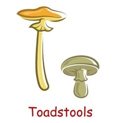Cartoon isolated toadstools vector image