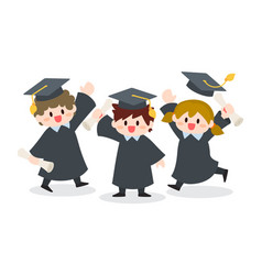 Children graduation ceremony vector