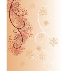 Chocolate snowflakes vector