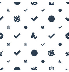 Choose icons pattern seamless white background vector