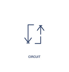 Circuit concept 2 colored icon simple line vector