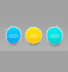 colorful web banners set vector image