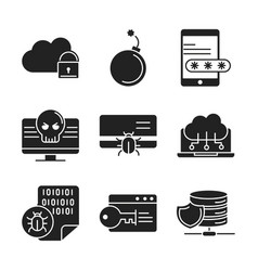 cyber security and information or network vector image