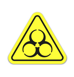 danger sign on yellow background vector image