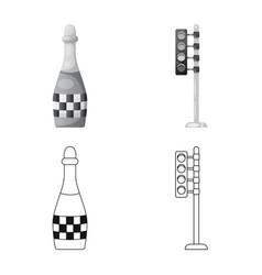 Design of car and rally logo set of car vector