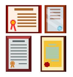 Diploma certificate set business vector