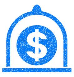 Dollar standard grunge icon vector