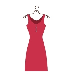 Dress and hanger icon image vector