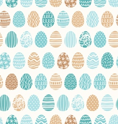 Easter eggs ornaments pattern vector image