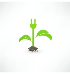 Eco green energy vector image
