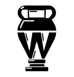 egyptian vase icon simple black style vector image