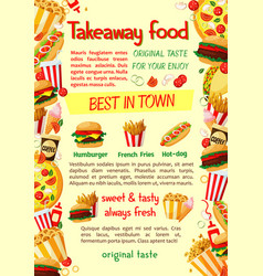 Fast food burger and drink banner template vector