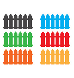 Fence icon fence icon object vector