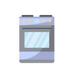 Gas stove isolated icon in flat style vector