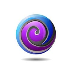Glossy internet company logo icon vector