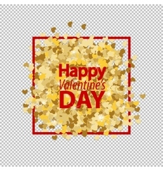 Golden glitter love heart vector