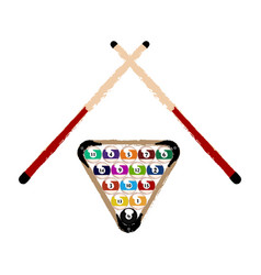 Group of billiard balls vector