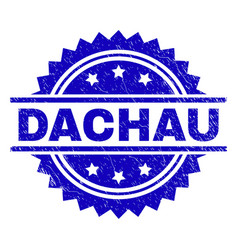 Grunge textured dachau stamp seal vector