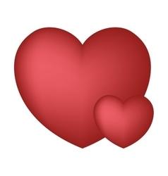 Hearts love ornament beautiful design vector