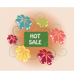 Hot Summer Sale sign vector image