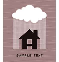 House under rain vector image
