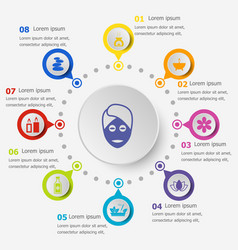 Infographic template with spa icons vector