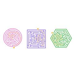 labyrinth game set vector image