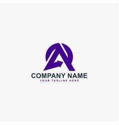 Latter a logo design monogram a abstract vector