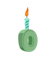 Letter o birthday font letter and candle vector