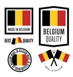 Made in Belgium label set vector image