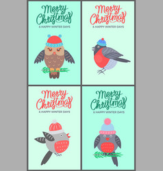 merry christmas green posters vector image