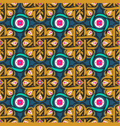 Morocco arabesque pattern tile vector