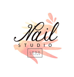 Nail studio logo design creative template for vector