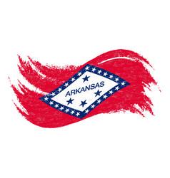 national flag of arkansas designed using brush vector image