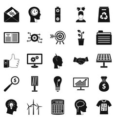 new idea icons set simple style vector image