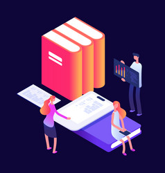 Online and self education concept with vector
