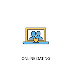online dating concept 2 colored icon simple blue vector image