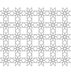Outline geometric floral pattern seamless vector