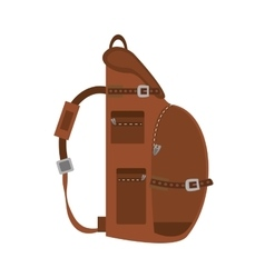 Packback travel bag tourist side view vector