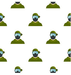 Paintball player pattern flat vector