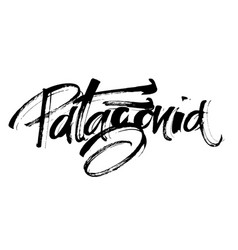 patagonia modern calligraphy hand lettering vector image