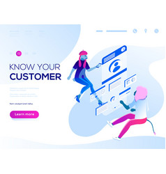 people fly and build a customer vector image