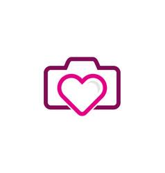 Photo love logo icon design vector