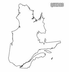 Quebec province outline map vector