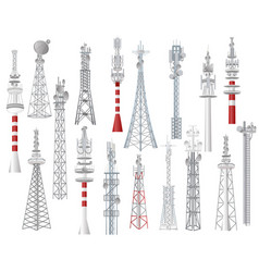 radio tower towered communication vector image