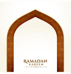 Ramadan kareem arabic style background vector