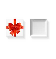realistic detailed 3d white present box vector image