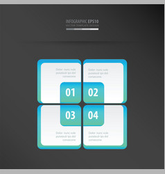 Rectangle presentation template neon blue vector
