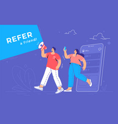 refer a friend and audience announcement vector image