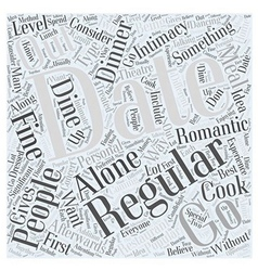 Regular Dating Word Cloud Concept vector